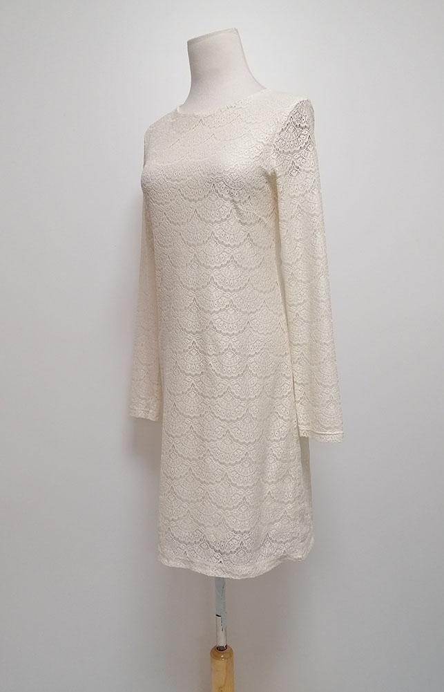 Damen Kleid weiß langarm Spitze Größe S C 5236 | eBay
